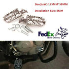 Universal Motorcycle Bike Off-road Stainless Steel Foot Pegs Forefoot Pedals 8MM