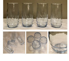 Vintage Ice Blue Swirl Glass Tumblers 16 oz. Set of 4