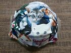 Kitty Cat Handmade Face Mask Pleated Elastic Women Reversible Washable
