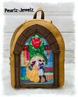 Danielle Nicole Disney Beauty  the Beast Stained Glass Arch Mini Backpack NWT