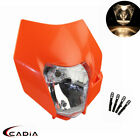 Motorcycle Enduro Dirt Bike Headlight Fairing Mask Supermotor Head Lamp For KTM