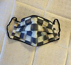 Face Mask Made from New Authentic MacKenzie Childs 1 Courtly Check Fabric