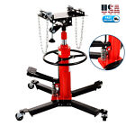 1100Lbs 2Stage Adjustable Height Hydraulic Transmission Jack Auto Shop Car Lift
