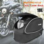 Universal Waterproof Motorcycle Rear Seat Tail Bag Luggage Storage Bag w/Cover