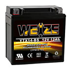 Weize YTX14-BS High Performance - Maintenance Free - Sealed ETX14 BS ATV Battery