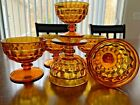 6 Indiana Colony WHITEHALL Amber Marigold Champagne Sherbet Glass Ice Cream Bowl