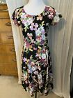Super Rare Vintage Pansy Avon Fashions Button Up Dress - Size Small