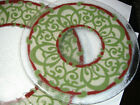 Peggy Karr Glass Plates Lot of 2 plates 11 and 8 Fused Art Glass Round plates
