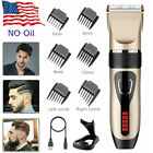Professional Rechargeable Hair Clippers Trimmer Men Hair Body Cutting Machine