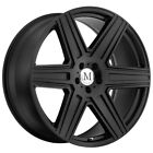 4 Mandrus Atlas 18x85 5x112 +32mm Matte Black Wheels Rims