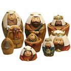 Holy Family Three Kings Shepherd Christmas Nativity Nesting Dolls Set Of 9 Home