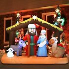 Christmas Inflatable Decoration 65 Ft Nativity Scene Build in LEDs Blow Up For