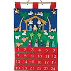 Nativity Fabric Advent Calendar Countdown To Christmas Home amp Kitchen