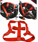 High Strength Polyester Motorcycle Motorbike Rear Wheel Strap Tie Down Red