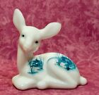 Fenton Fawn Milk Glass Hand Decorated