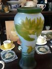 Beautiful Galle Possibly Reproduction Floral Cameo Art 125 Glass Vase