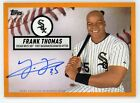 2019 Topps Brooklyn Collection ORANGE Frank Thomas AUTO AUTOGRAPH #D 10 25