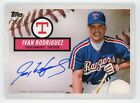 2019 Topps Brooklyn Collection Ivan Rodriguez AUTO AUTOGRAPH #D 20 75 RANGERS