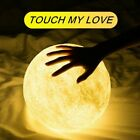 8 20cm Printing Moon 3D Lamp USB LED Night Light Moonlight Touch Color Changing