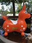 1984 Gymnic Rody Orange Inflatable Horse Ride on Ledraplastic Made In Italy