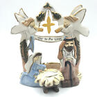 Heather Goldminc Nativity Tea Light Candle Holder Joy to the World Blue Sky 2009