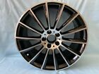 19 Black Multispoke AMG Style Rims Wheels Fits Mercedes Benz S500 S550 S63 S65