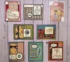 8 Fall Autumn Thanksgiving geeting cards envelopes Stampin Up +more