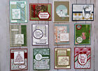 12 Christmas Holiday Winter geeting cards envelopes Stampin Up +more