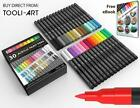 TOOLI ART Acrylic Paint Pens 30 Assorted Markers Set 07mm Extra Fine Tip
