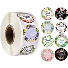 500PCs Thank You Stickers Seal Labels with Flower Round Envelopes Seal Sticke VS