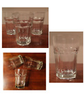 VINTAGE Anchor Hocking Heavy Glass 12 oz.Tumblers BISTRO 3-Piece Set