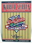 MARK MCGWIRE W.S Collection AUTOGRAPH Patch '89 World Series 2002 Upper Deck