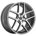 4 Milanni 9052 Tycoon 22x9 5x112 +25mm Gunmetal Machined Wheels Rims 22 Inch