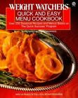Weight Watchers Quick and Easy Menu Cookbook Plume