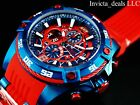 Invicta Men's 52mm Marvel Bolt Viper SPIDERMAN Limited Edition Red Blue SS Watch