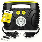 Air Compressor Car Tire inflator portable analog KC H Electric Air pump 12V 110V