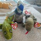 TY 2000 Beanie baby Morrie, Scaly, And Buzzy EUC beanbag plush toy