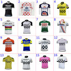 Retro Mens Peugeot Michelin Cycling Jersey Cycling Short Sleeve Jersey