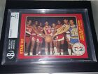 1985 Star #1 5X7 Michael Jordan ROOKIE 1985 Slam Dunk Contest Graded NM BGS 7