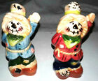pretty and cute scarecrow salt and pepper shakers