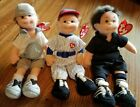 TY Teenie Beanie Boppers  LOT of 3 HOME RUN HANK  CAPTION COLIN ACE ANTHONY used