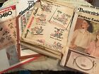 Lot Of 6 Vintage ORIGINAL Embroidery Transfer Patterns Butterick Simplicity Week