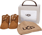 Toddler UGG Baby Neumel Bootie and UGG Beanie Set - Infant Chestnut Suede/Knit S