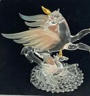 Stunning Unicorns in Blown and Spun Glass Iridescent Wings Crystal Eyes Gilt