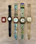 Lot of 4 Swatch Watches + One Face That Needs A Band.