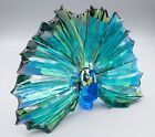 Swarovski Crystal 2015 Yearly SCS Peacock Arya Figurine Excellent Green Blue