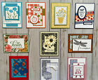10 Handmade Friendship greeting cards envelopes Stampin Up +more