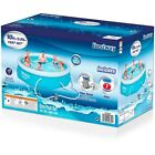 Bestway 10 x 30 Fast Set Inflatable Above Ground Swimming Pool w Filter Pump