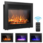 285 Fireplace Electric Embedded Insert Heater Glass Log Flame Remote