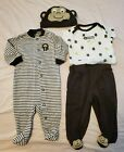 CARTERS BABY BOY SIZE 3 MONTHS MONKEY 4 PIECE SET BANANAS FOR MOMMY
